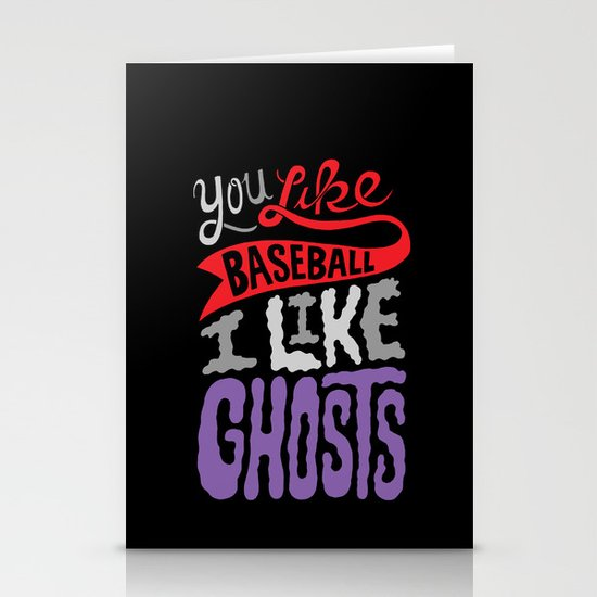 Baseball, Ghosts Stationery Cards