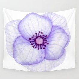 Purple Primula Flower Wall Tapestry