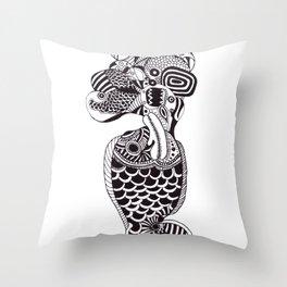 Fish Can Talk  Throw Pillow