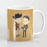 dale cooper Mugs featuring Truman & Cooper by Vera van Groos