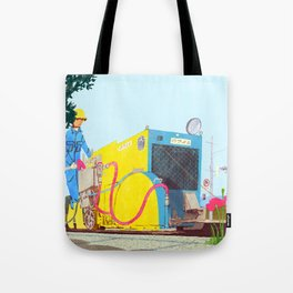 The asphalt cutter Tote Bag
