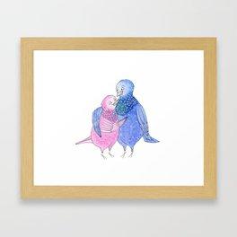Pigeons in Love Framed Art Print