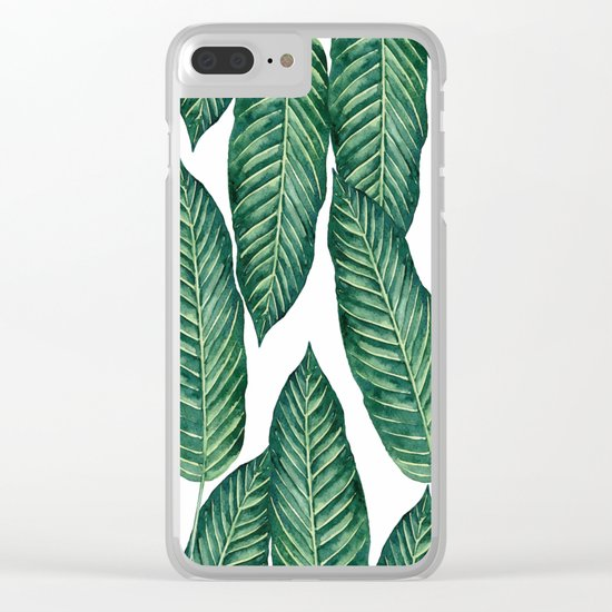 Green Banana Leaves #society6 Clear iPhone Case