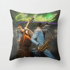 fifties cocktail jazz Throw Pillow