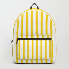 Yellow & White Vertical Stripes Backpack