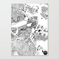 boston map Canvas Prints featuring Boston  by Maps Factory