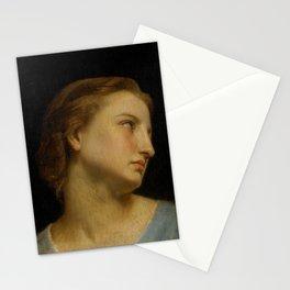 "William-Adolphe Bouguereau ""Study Of a Woman's Head (Philomèle Et Progné)"" Stationery Cards"