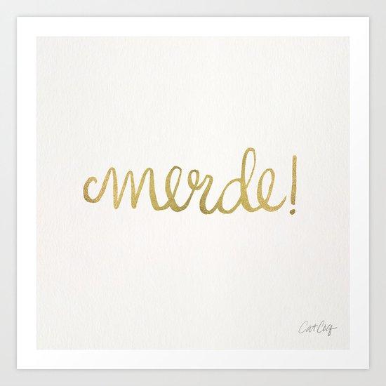 Pardon My French – Gold Ink Art Print