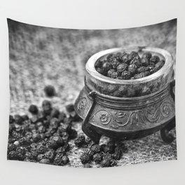 Black Pepper Wall Tapestry