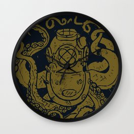 Mark V Octopus - gold Wall Clock