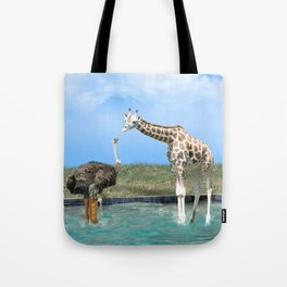 The Ostrich with Galoshes Tote Bag