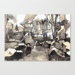 Summer walks in the woods.  Canvas Print