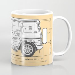 GWAGON BLUEPRINT (yellow) Coffee Mug
