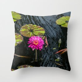 Amazonian Water Lily Throw Pillow