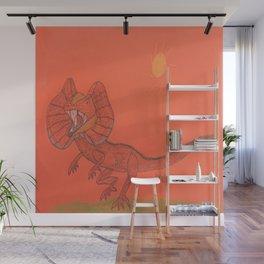 Frilled Lizard Wall Mural