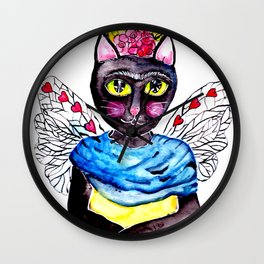 Cat-Kahlo Wall Clock