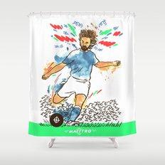 Andrea Pirlo The Maestro Shower Curtain