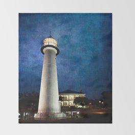 Lighthouse Blues Throw Blanket