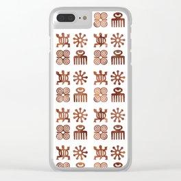 Adinkra pattern Clear iPhone Case