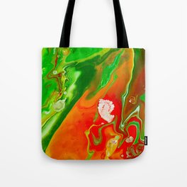 Emerald Marble Tote Bag