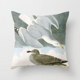 Seagulls Illustration - Birds in America Throw Pillow
