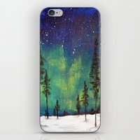 northern lights iPhone & iPod Skins featuring Northern Lights by Ruth Oosterman