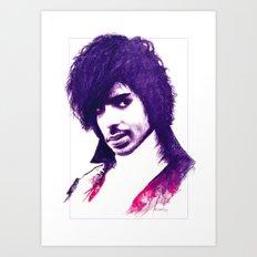 Prince In Purple Art Print