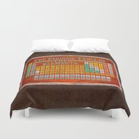 periodic table Duvet Covers featuring Vintage Industrial Periodic Table Of The Elements by Mark E Tisdale
