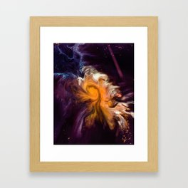 Before Time Paint Galaxy (Color) Framed Art Print