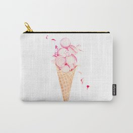 Pink Macaroons Ice Cream Carry-All Pouch