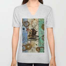 Nautical Steampunk Unisex V-Neck