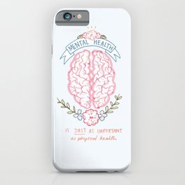 Mental Health Check iPhone Case