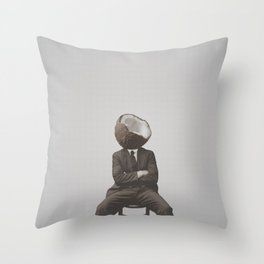 Coconut Mugshot Throw Pillow