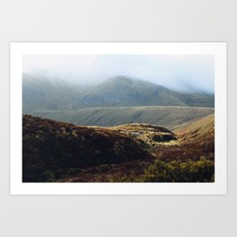 Misty way (Tongariro, New Zealand) Art Print