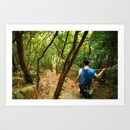 Forest Hiker Art Print