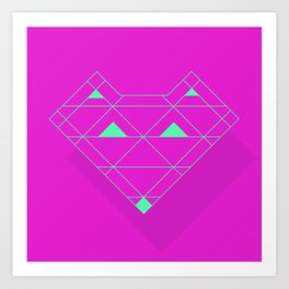 Linear Fox Art Print