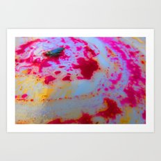 Greasy Beet Smear Art Print