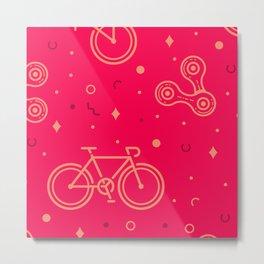 Bike and Chain Metal Print