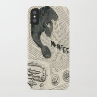 manatee iPhone & iPod Cases featuring Manatee by Cassidy Tebeau