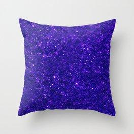 Glitter Blue Throw Pillow