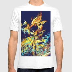 Butterfly Paradise White Mens Fitted Tee MEDIUM