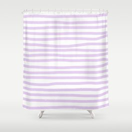 Lilac Stripes Horizontal Shower Curtain