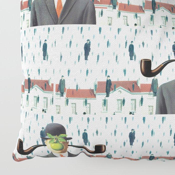 Ear Smoking Apple Guy Standing in the Man Rain Floor Pillow