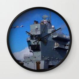 HMS Prince of Wales Aft Island Wall Clock