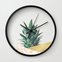 Pineapple Dip VII Wall Clock