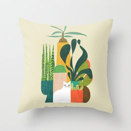 Still life with cat Throw Pillow