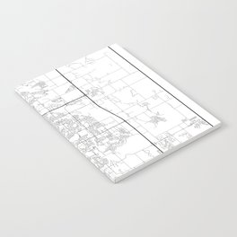 Minimal City Maps - Map Of Fort Collins, Colorado, United States Notebook