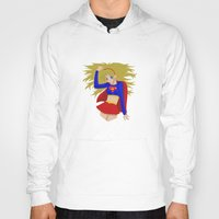 supergirl Hoodies featuring Supergirl by revolver74