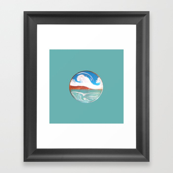 Painting of the Ocean on a Penny Print Framed Art Print