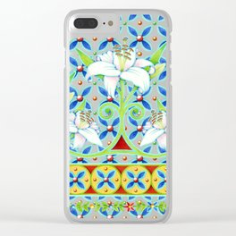 Extravagant Elizabethan Folkloric Lily Clear iPhone Case